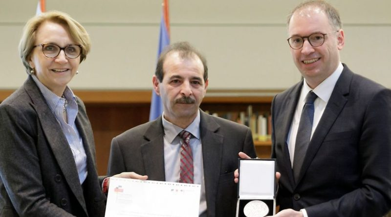 The director of the center received the French-German prize for human rights